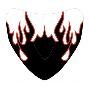 Black and red Flaming silkscreen for nose screen