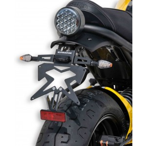 Ermax - Support de plaque XSR700 Support de plaque SUP09Evo Ermax XSR700 2016/2020 YAMAHA EQUIPEMENT MOTOS