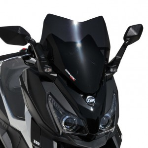 Ermax : cúpula deportiva Cruisym Parabrisa hypersport Ermax CRUISYM 125I / 300I 2018/2019 SYM SCOOT EQUIPO DE SCOOTER
