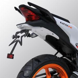 suporte de placa CBR 125 R 2011/2017 Suporte de placa Ermax CBR125R 2011/2018 HONDA EQUIPAMENTO DE MOTOS
