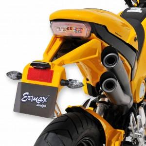 Ermax cover of plate holder for MSX 125 2013/2016 Cover of plate holder Ermax MSX 125 (GROM) 2013/2016 HONDA MOTORCYCLES EQUIPMENT