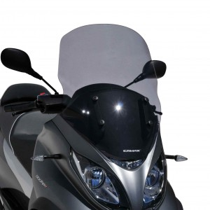 Touring windshield MP3 350 and 500 HPE (Sport-Business) 2018/2021 Touring windshield Ermax MP3 350/500 HPE (Sport-Business-Advanced sport) 2018/2021 PIAGGIO SCOOT SCOOTERS EQUIPMENT