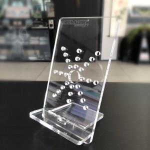 Soporte de plexiglás para teléfonos y tabletas Soporte de plexiglás para teléfonos y tabletas  ACCESORIOS ACCESORIOS UNIVERSALES Inicio