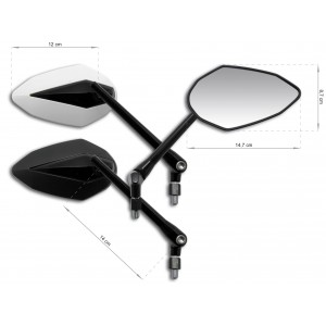 Bikes mirrors Bike mirrors Ermax REAR-VIEW MIRRORS UNIVERSAL ACCESSORIES Home