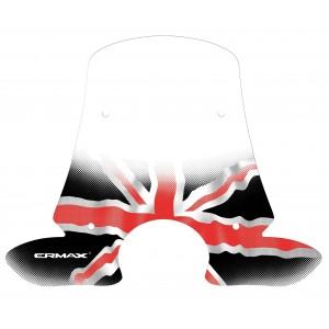 Sérigraphie Union Jack noire et rouge pour bulle et pare-brise