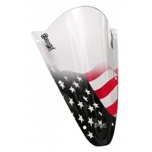Sérigraphie Stars & Stripes noire et rouge pour bulle et pare-brise