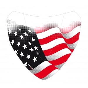 Sérigraphie noire et rouge Stars & Stripes pour saute vent