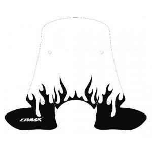 Sérigraphie Flaming noire pour bulle et pare-brise