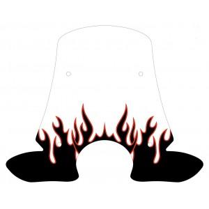 Sérigraphie Flaming noire et rouge pour bulle et pare brise