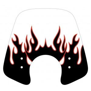 Sérigraphie Flaming noire et rouge pour bulle et pare-brise
