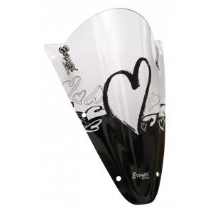 Sérigraphie Coeurs noire pour bulle et pare-brise