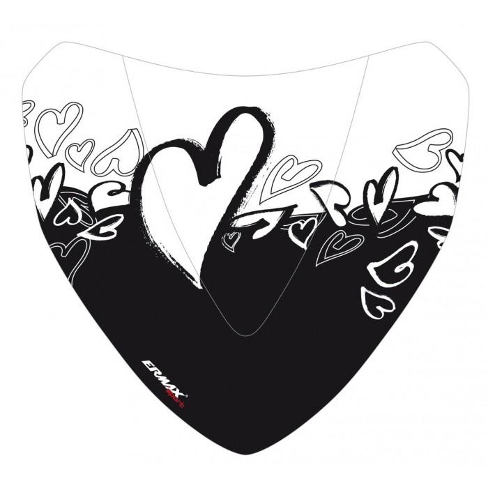 Black Hearts silkscreen for nose screen