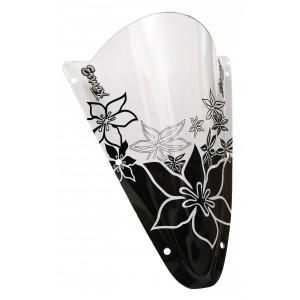 Sérigraphie Hawaïan Flower noire pour bulle et pare brise