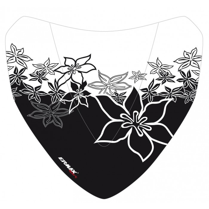 Black Hawaïan Flowers silkscreen for nose screen