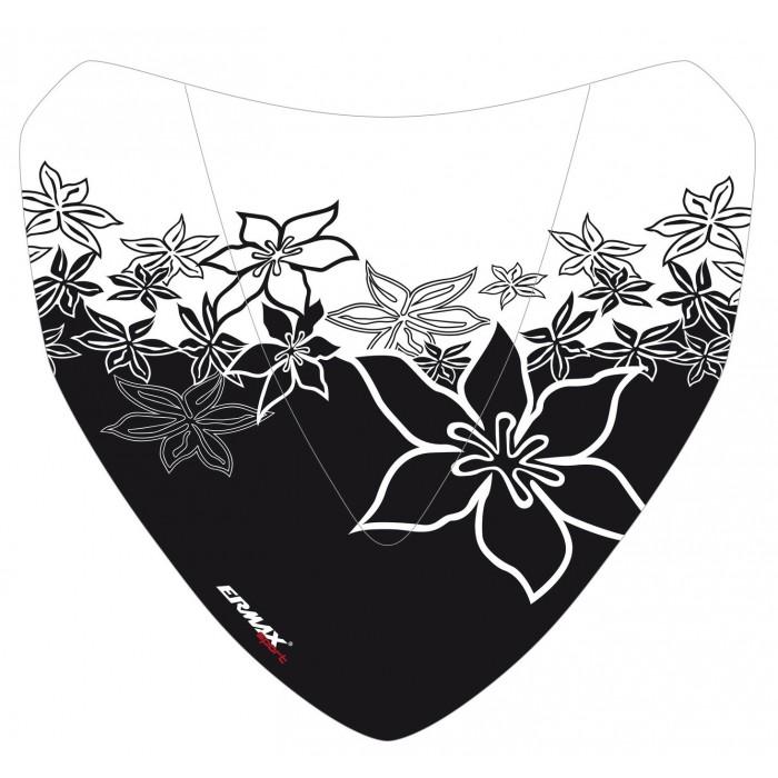 Sérigraphie Hawaïan Flowers noire pour saute-vent